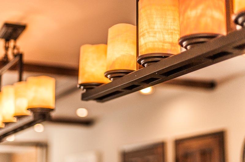 Image of lighting fixture in apartment