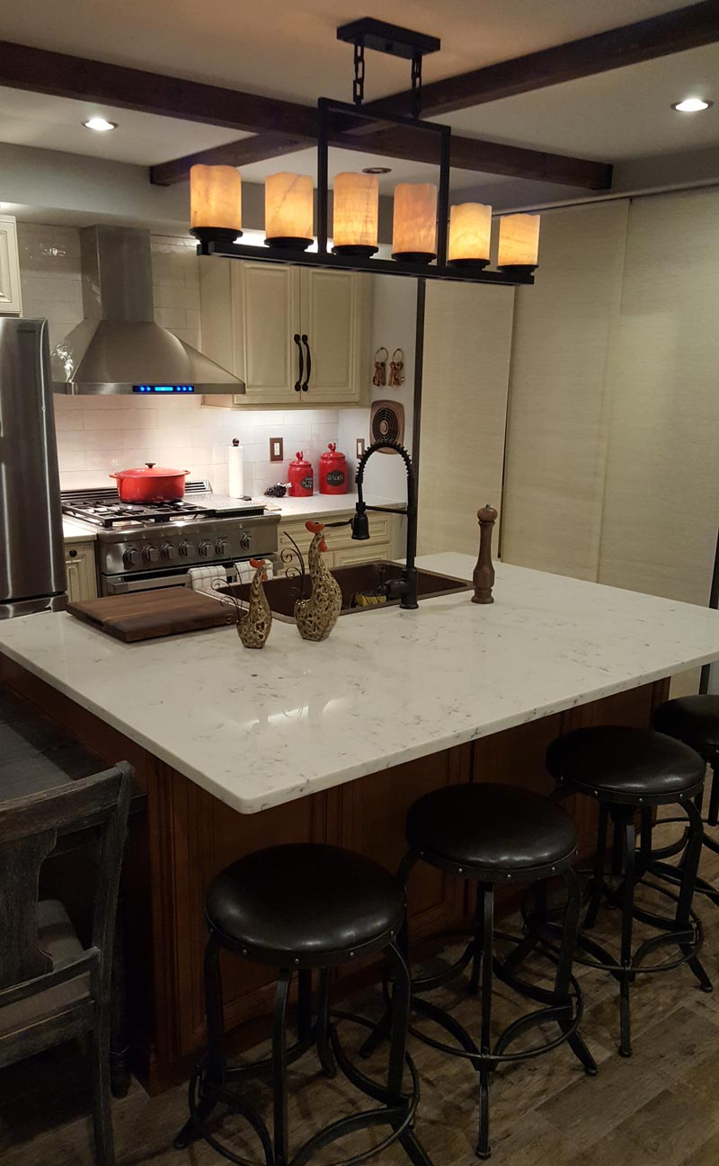 Image of kitchen island in apartment