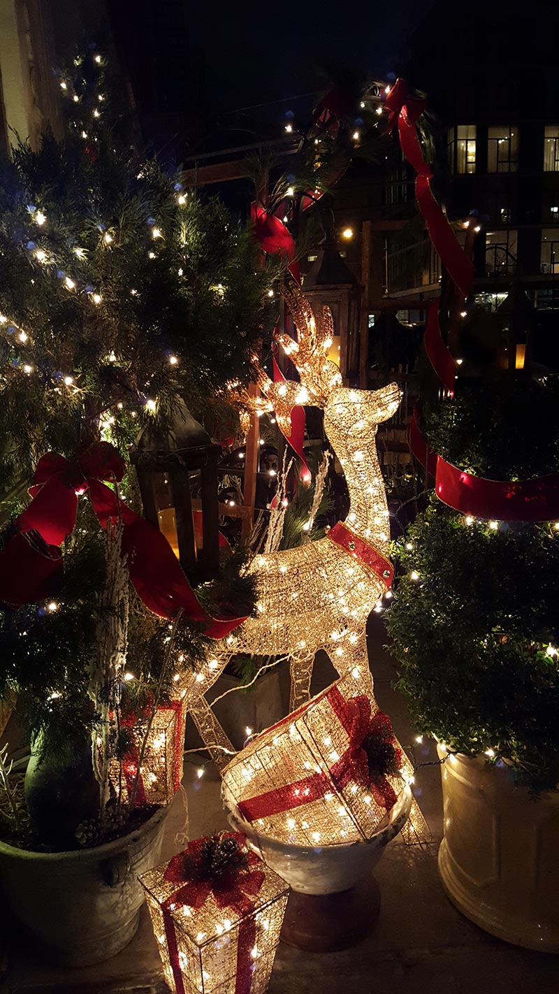 image of Christmas decor at The Greek restaurant - by Anastasios Interiors
