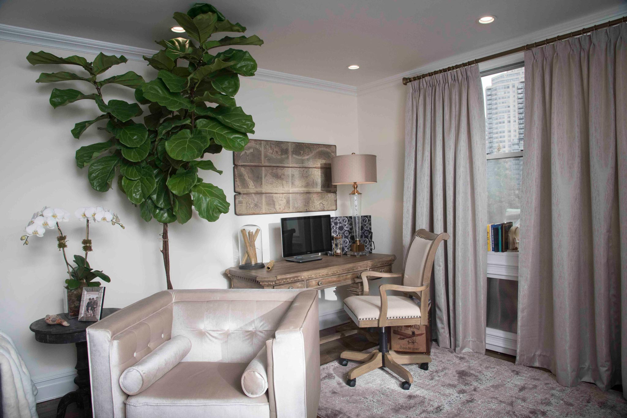 gallery image of interior design project at the Upper East apartment by Anastasios Interiors